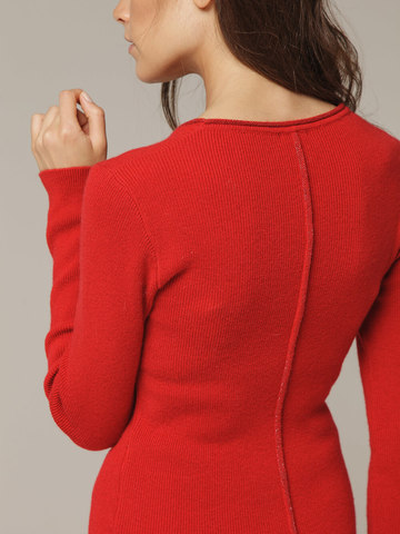 Женский красный джемпер из 100% кашемира - фото 3