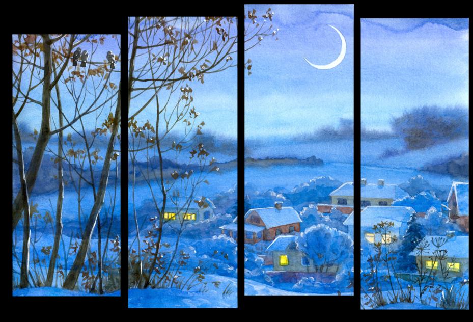 """Модульные картины Модульная картина """"Глубокий снег"""" М466.png"""