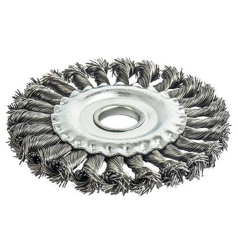 Кордщетка для МШУ радиальная витая ПРАКТИКА 125 х 22 мм (1шт.) блистер
