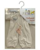 Комбинезон - Белый / голубой. Одежда для кукол, пупсов и мягких игрушек.