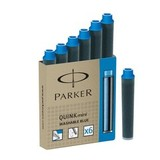 Мини-картридж со смываемыми чернилами для перьевых ручек Parker Quink Cartridge — Mini Washable Blue S0767240