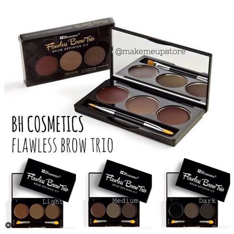 Тени и помадка для бровей Flawless Brow Trio - BH Cosmetics (USA).