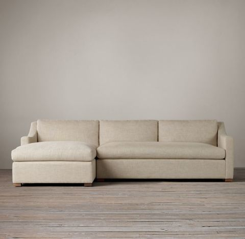 Belgian Classic Slope Arm Left-Arm Sofa Chaise Sectional