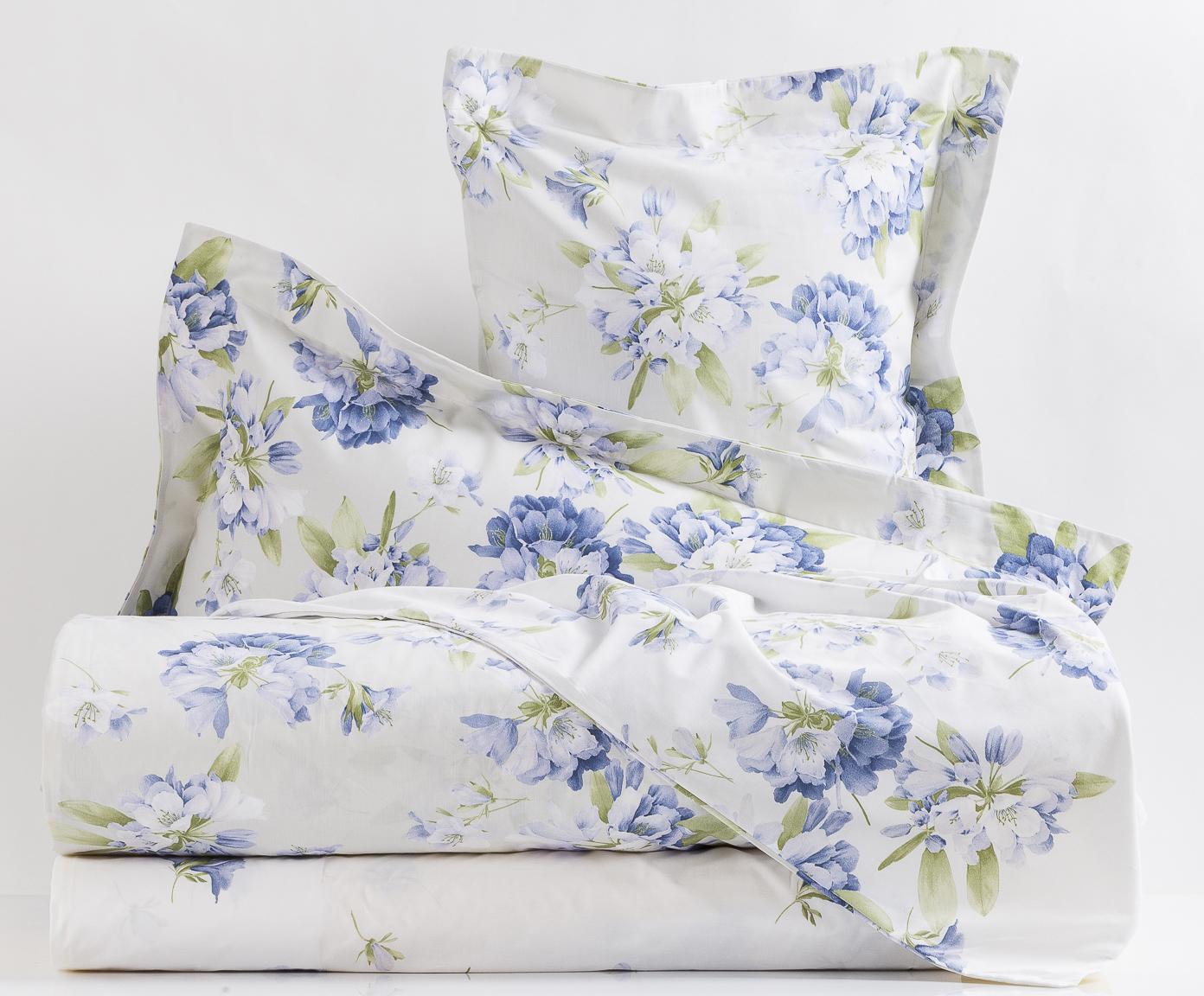 Комплекты постельного белья Постельное белье семейное Mirabello Rododendri с голубыми цветами elitnoe-postelnoe-belie-rododendri-s-golubymi-tsvetami-ot-mirabello.jpg
