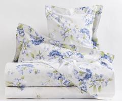 Постельное белье семейное Mirabello Rododendri с голубыми цветами