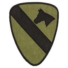 Abzeichen US Textil 1st Cavalry oliv