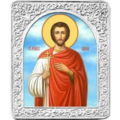 Святой Савел. Маленькая икона в серебряной раме.