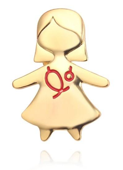Брошь Медсестра (золотой цвет)