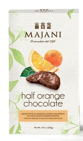 «Half Orange Chocolate » конфеты с начинкой из кусочков фруктов ( апельсин), 230г