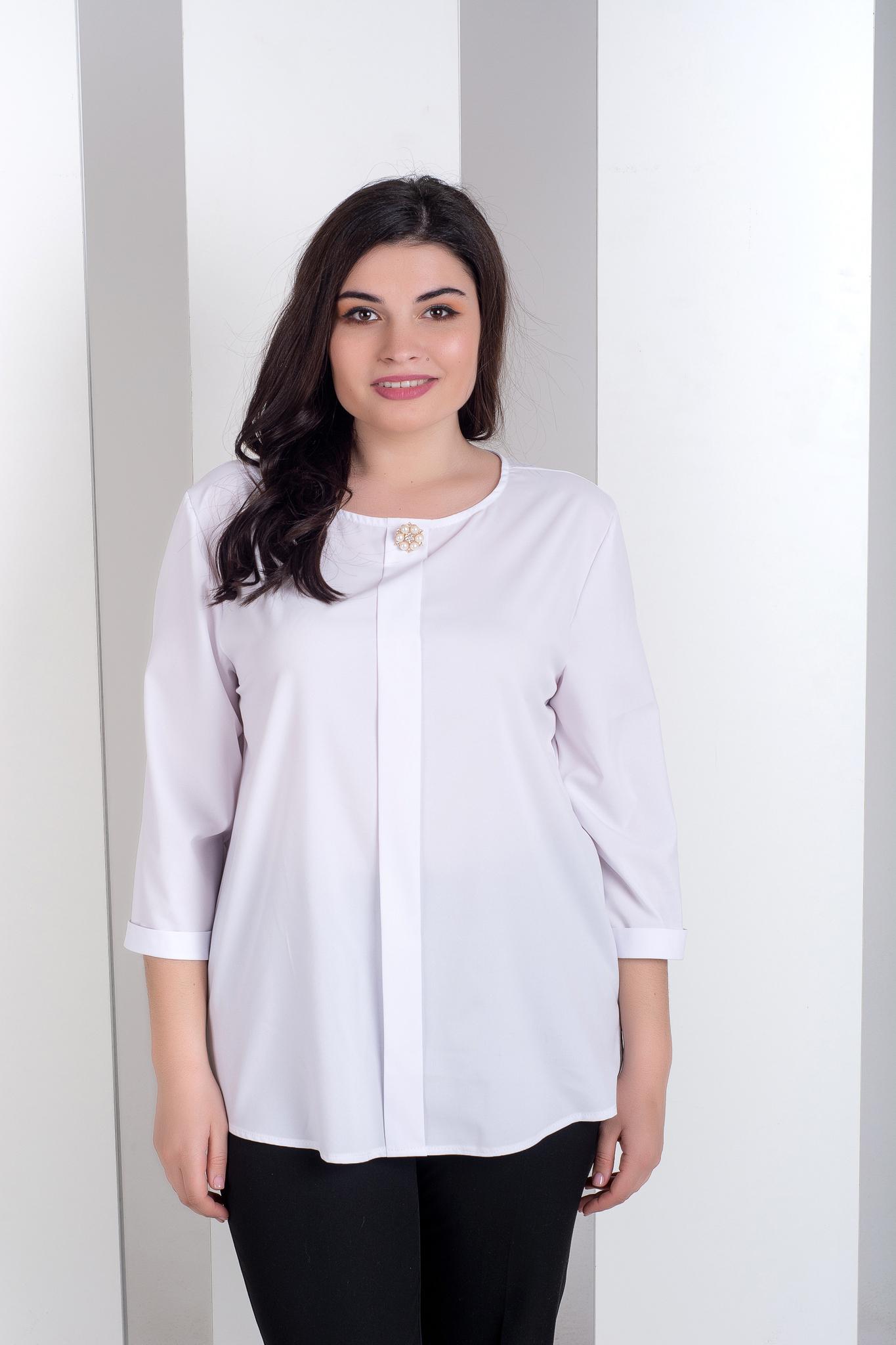 cf5744f1678 Лиза. Стильная блуза больших размеров. Белый – купить в интернет ...