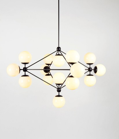 replica Modo Chandelier by   ROLL&HILL ( 15 globes ) white