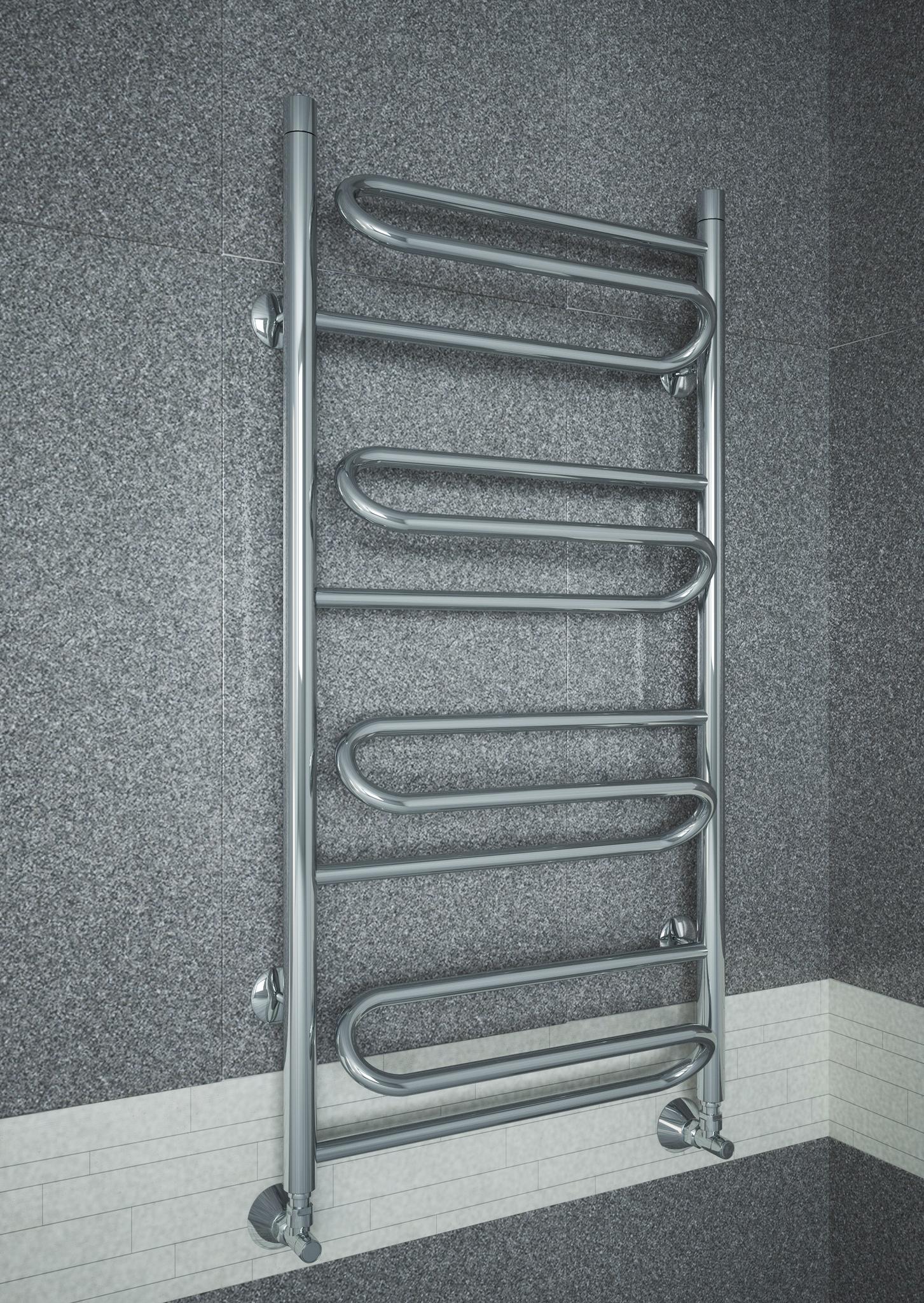 Upiter E - электрический полотенцесушитель с увеличенным пространством для сушки цвета хром.