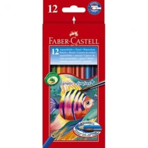 Набор карандашей аквар. Faber-Castell Aquarell 12цв 6гр L=175мм D=7мм 11441