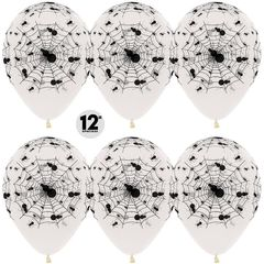 Шар (12''/30 см) Пауки, Прозрачный (390), кристалл, 5 ст, 50 шт.