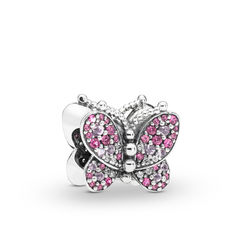 Шарм Dazzling Pink  Butterfly