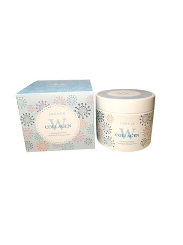 ENOUGH W Крем массажный осветляющий Collagen whitening premium Cleansing & Massage Cream 300гр
