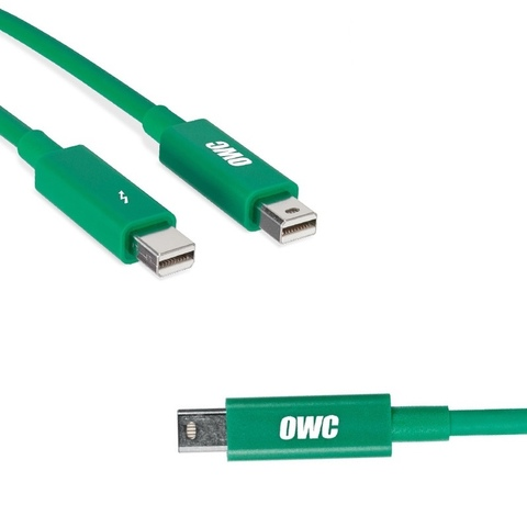 Кабель OWC Thunderbolt 2 Cable 1м зеленый