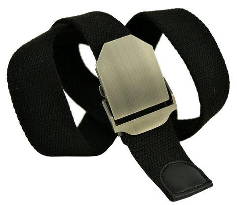 Ремень текстильный мужской чёрный стропа 4 см 40Stropa-083