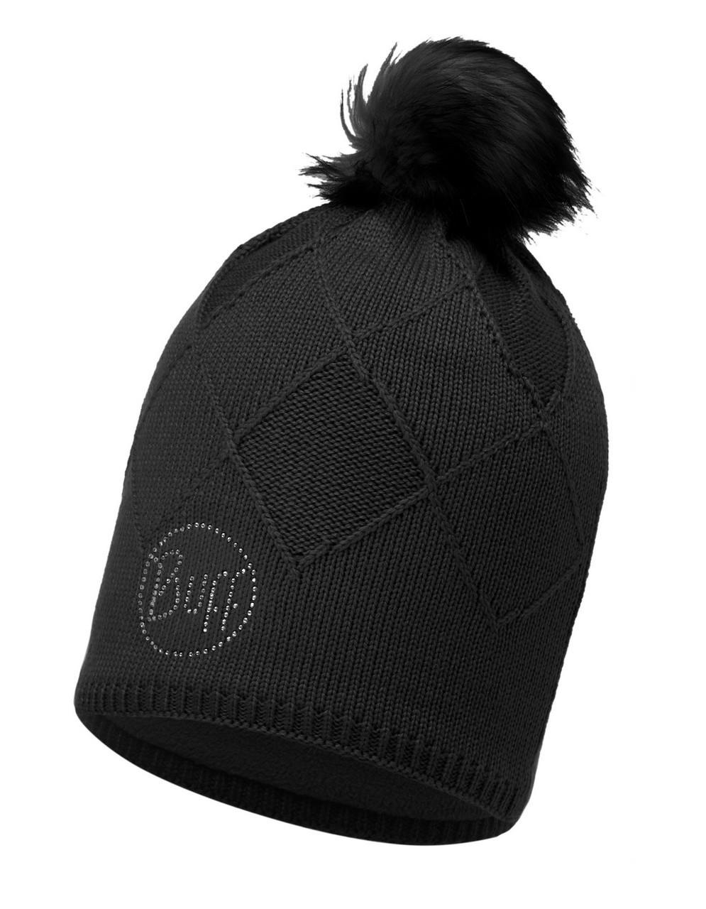 Вязаная шапка с флисовой подкладкой Buff Stella Black Chic