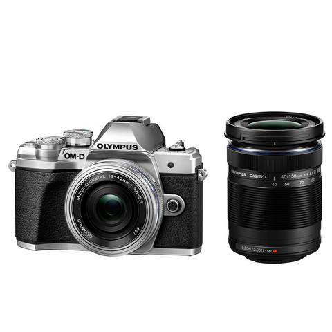Olympus OM-D E-M10 Mark III Double Kit 14-42 EZ 40-150 R silver