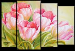 """Модульная картина """"Небесные тюльпаны"""""""