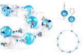 Ожерелье и серьги (комплект украшений Bella голубой)