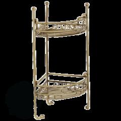 Решетка угловая двойная ажурная с крючками Migliore Complementi L21xP21xH53cm ML.COM-50.212 бронза