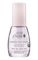 Органическая успокаивающая сыворотка для лица «Розовая вода», 100% Pure
