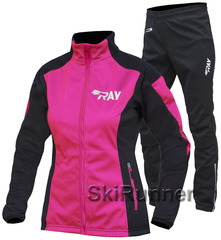 Утеплённый лыжный костюм RAY Race WS Fuchsia-Black 2018 женский