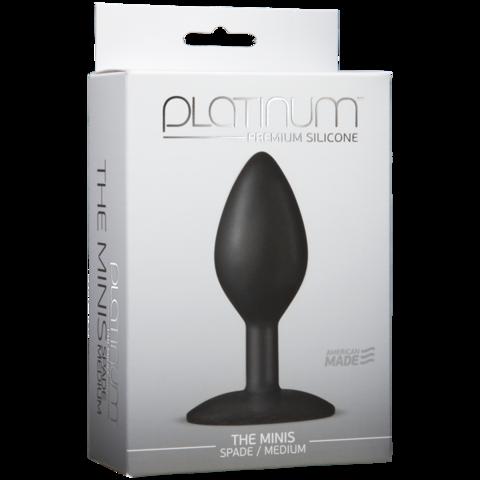 Анальная пробка для постоянного ношения Platinum Premium Silicone - The Mini's Spade (9,00х3,80 см)