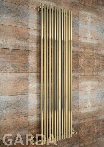 Garda Bronze - бронзовый дизайн радиатор с прямоугольными вертикалями. Бронза.