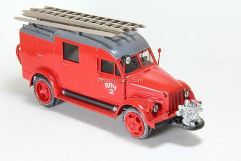 GAZ-51 PMG-5 VPCh 2 Fire Engine Vector-models 1:43