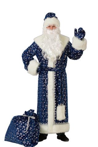 Дед Мороз синий (плюш) Аренда 1 сутки