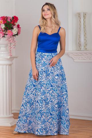 Платье вечернее Гжель