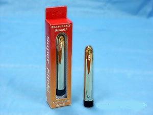 Классические: Блестящий гладкий золотой вибромассажер