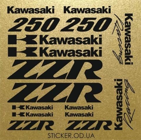 Набор виниловых наклеек на мотоцикл Kawasaki ZZR 250