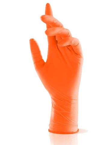 Adele косметические нитриловые перчатки оранжевые р. M (100 штук - 50 пар)