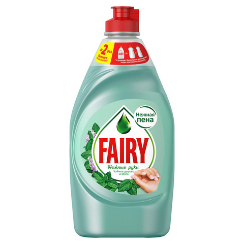 Средство для мытья посуды FAIRY Нежные руки Чайное дерево и Мята 450мл