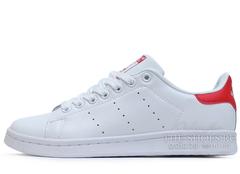 Кроссовки Женские Adidas Stan Smith  White Red