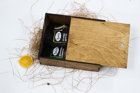 Малый кофейный набор №2 в деревянном коробе