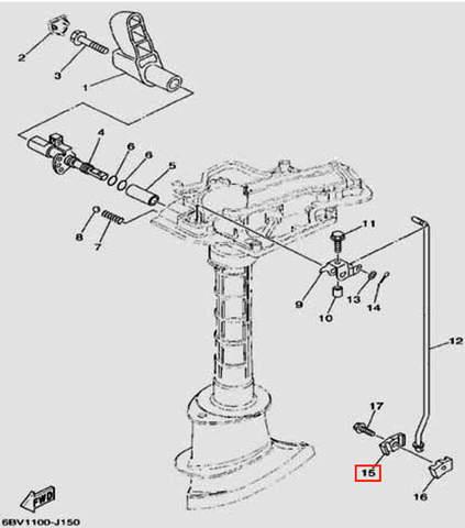 Фиксатор тяги пп левый для лодочного мотора F5 Sea-PRO(15-15)