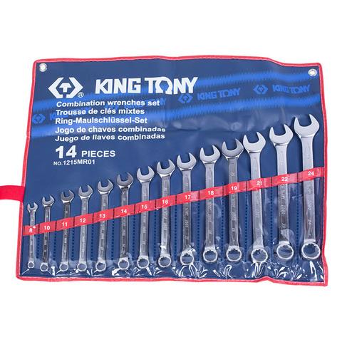 KING TONY (1215MR01) Набор комбинированных ключей, 8-24 мм, 14 предметов