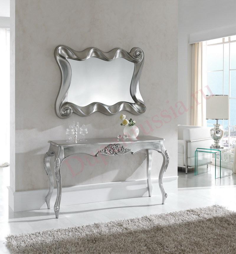 Зеркало Dupen PU183 В серебро, Консоль DUPEN К57 серебро