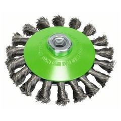 Коническая щетка Bosch М14 0,35х115 мм пучки нержавеющая сталь
