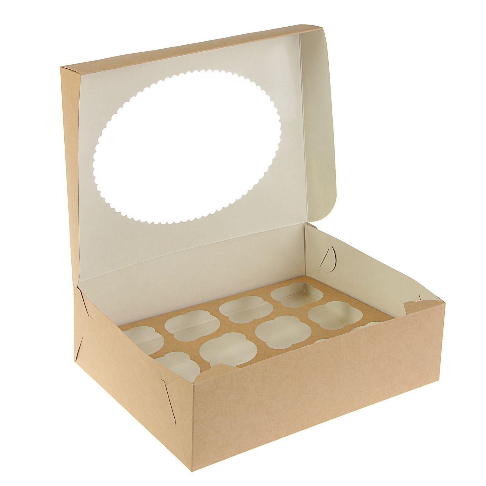 Коробка на 12 капкейков c окном