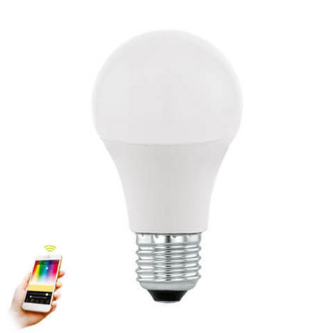 Лампа RGB LED диммируемая Умный свет Eglo EGLO CONNECT LM-LED-E27 9W 806Lm 2700-6500K A60 11586