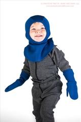 Варежки двухслойные ManyMonths, Синий (шерсть мериноса 100%)
