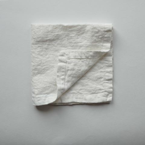 Салфетки из умягченного льна /белый