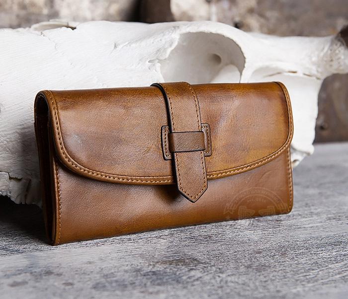 WL296-2 Мужской кошелек клатч из натуральной кожи фото 01
