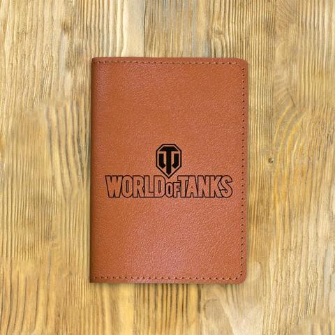 """Обложка на паспорт """"WORLD OF TANKS"""", рыжая"""